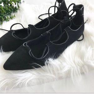 GAP NWOB Suede Lace Up Flats